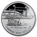 1991 Canada Silver Dollar Proof (Frontenac w/OGP)