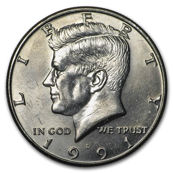 1991-D Kennedy Half Dollar BU