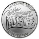 1991-D USO $1 Silver Commem BU (w/Box & COA)