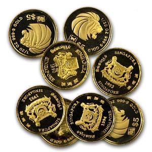 1991-Date Singapore 1/20 oz Gold $5 AU (Random Years)