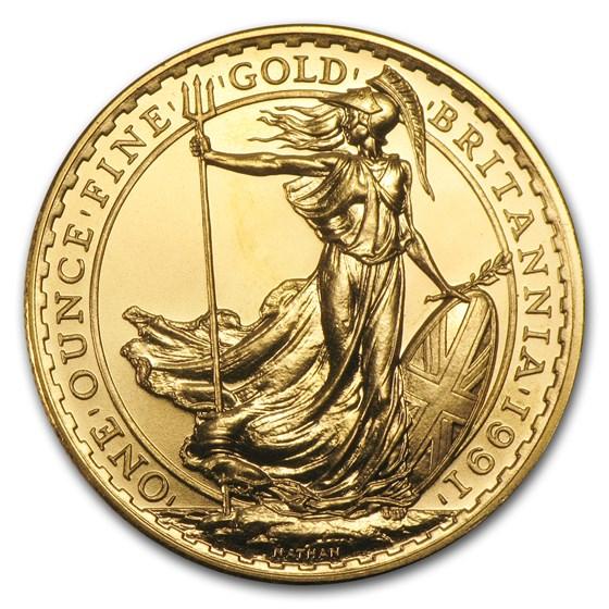 1991 Great Britain 1 oz Gold Britannia BU