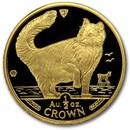1991 Isle of Man 1/2 oz Gold Norwegian Cat