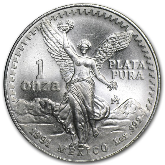 1991 Mexico 1 oz Silver Libertad BU