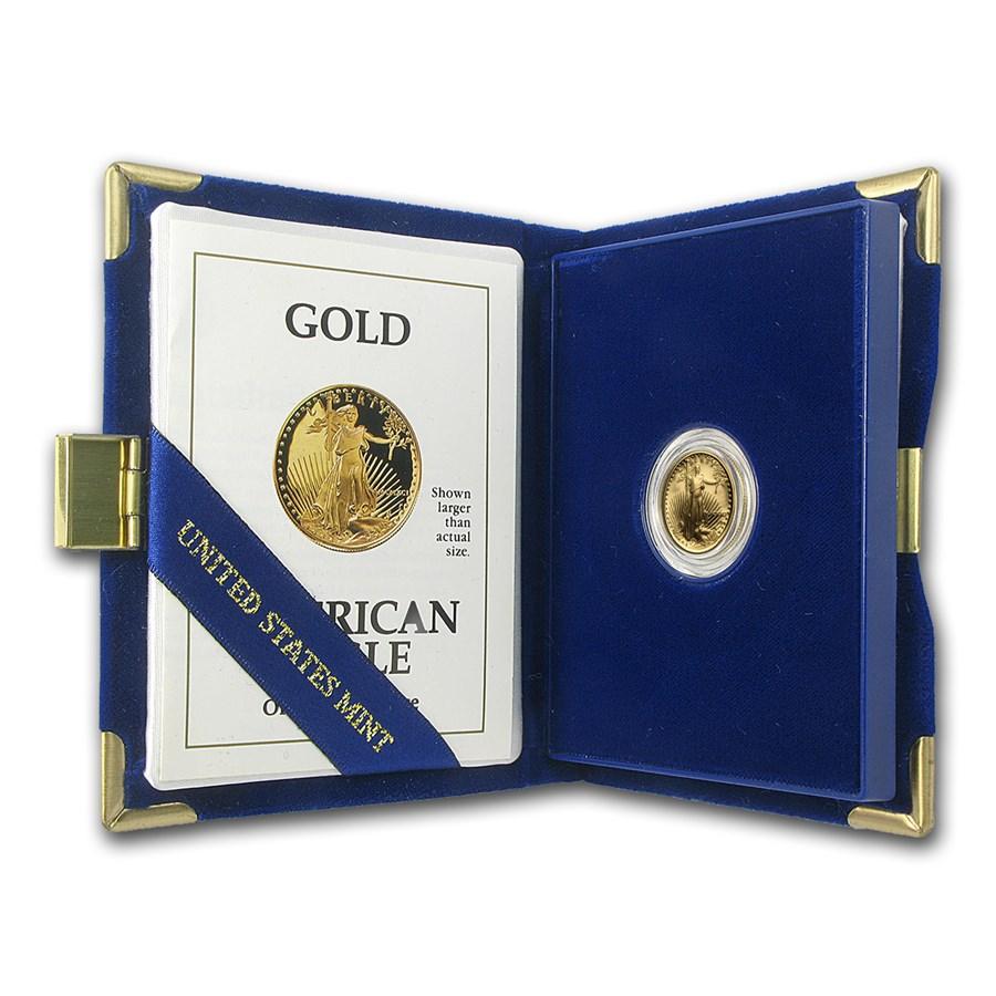 1991-P 1/10 oz Proof American Gold Eagle (w/Box & COA)