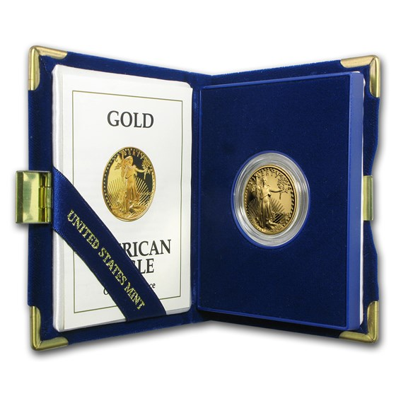 1991-P 1/2 oz Proof American Gold Eagle (w/Box & COA)