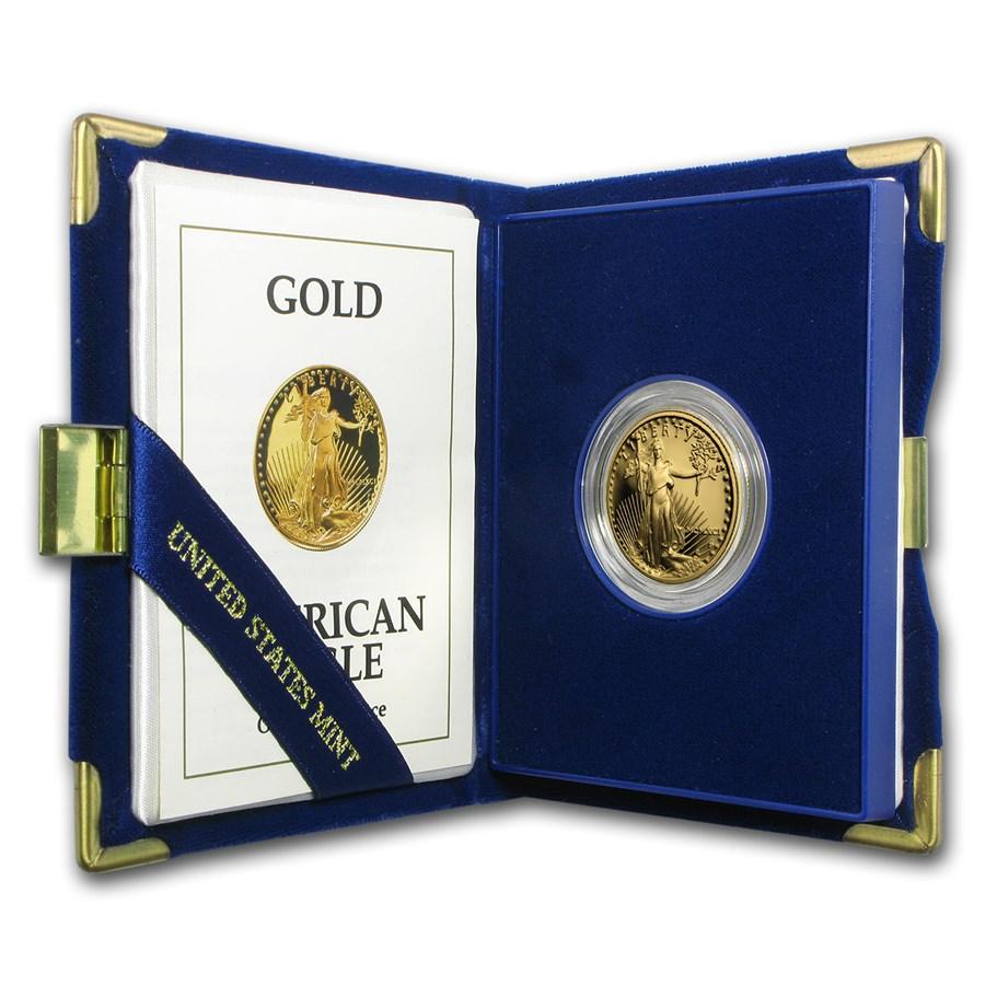 1991-P 1/2 oz Proof Gold American Eagle (w/Box & COA)