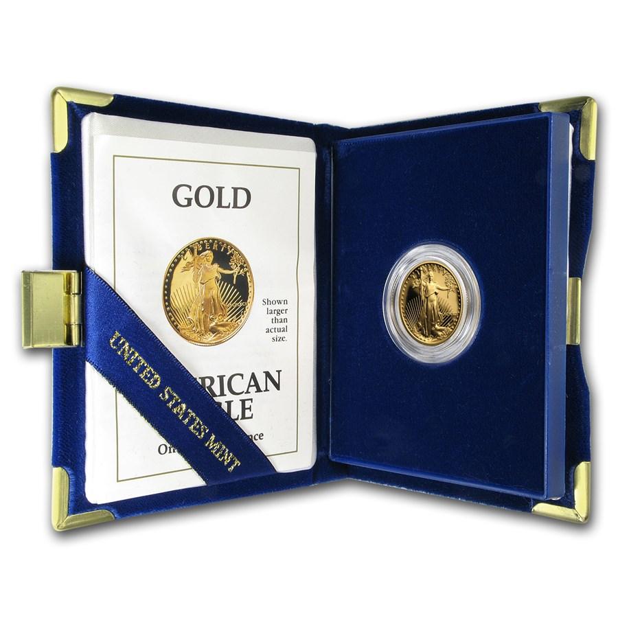 1991-P 1/4 oz Proof American Gold Eagle (w/Box & COA)