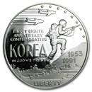 1991-P Korean War $1 Silver Commem Proof (Capsule Only)