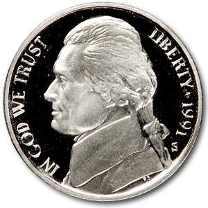 1991-S Jefferson Nickel Gem Proof