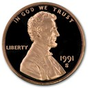 1991-S Lincoln Cent Gem Proof (Red)