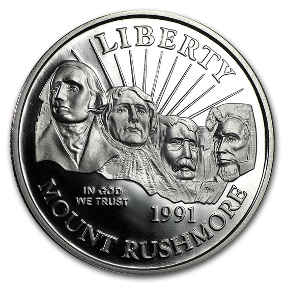 1991-S Mount Rushmore 1/2 Dollar Clad Commem Proof (Capsule only)