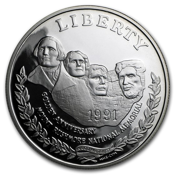 1991-S Mount Rushmore $1 Silver Commem Proof (Capsule only)
