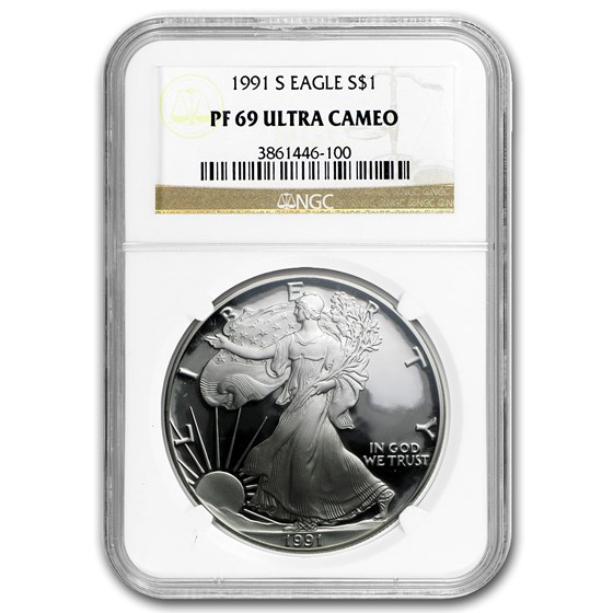 1991-S Proof American Silver Eagle PF-69 NGC
