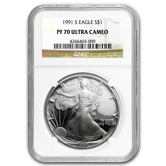 1991-S Proof American Silver Eagle PF-70 NGC