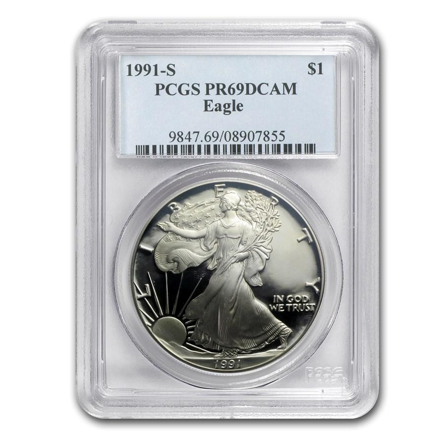 1991-S Proof American Silver Eagle PR-69 PCGS