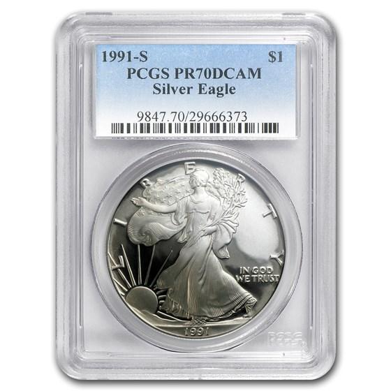1991-S Proof American Silver Eagle PR-70 PCGS