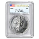 1991 Silver American Eagle MS-69 PCGS (FirstStrike®)