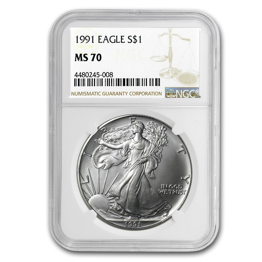 1991 Silver American Eagle MS-70 NGC