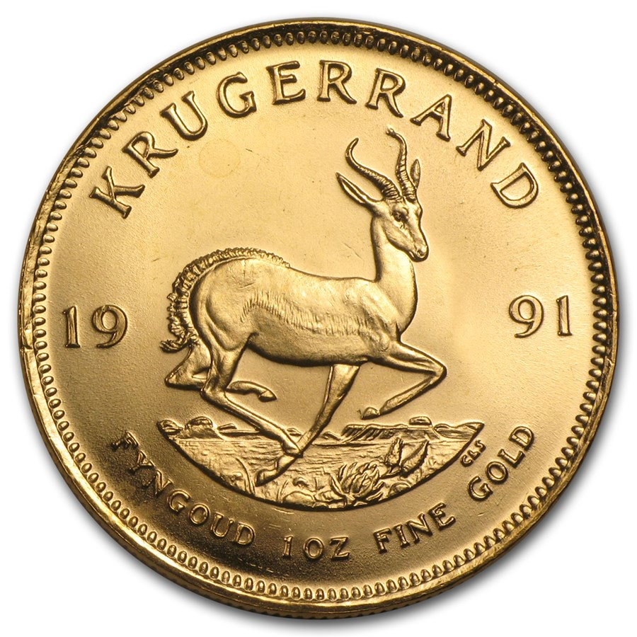 1991 South Africa 1 oz Gold Krugerrand BU