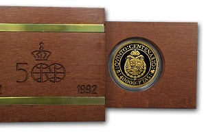 1991 Spain Proof Gold 40000 Pesetas Imperial Eagle