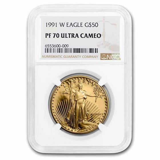 1991-W 1 oz Proof American Gold Eagle PF-70 UCAM NGC