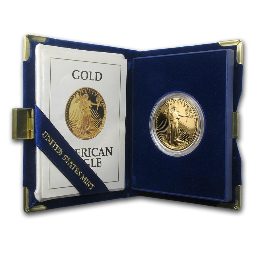 1991-W 1 oz Proof American Gold Eagle (w/Box & COA)