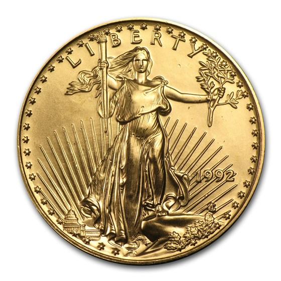 1992 1/2 oz American Gold Eagle BU