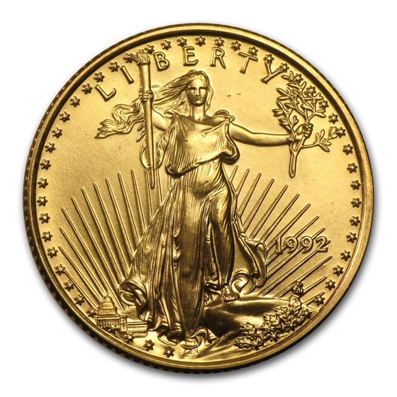 1992 1/4 oz American Gold Eagle BU