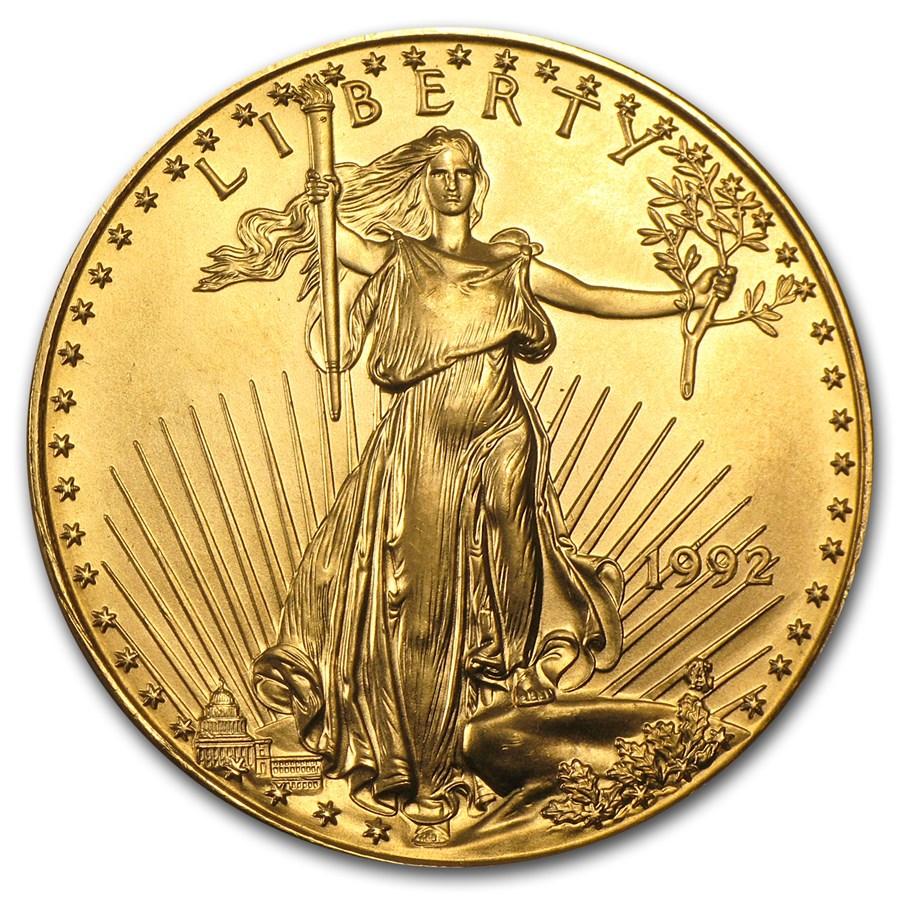1992 1 oz American Gold Eagle BU