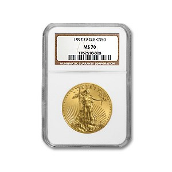1992 1 oz American Gold Eagle MS-70 NGC