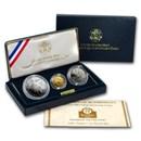 1992 3-Coin Commem Columbus Quincentenary Prf Set (w/Box & COA)
