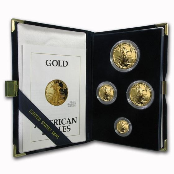 1992 4-Coin Proof American Gold Eagle Set (w/Box & COA)