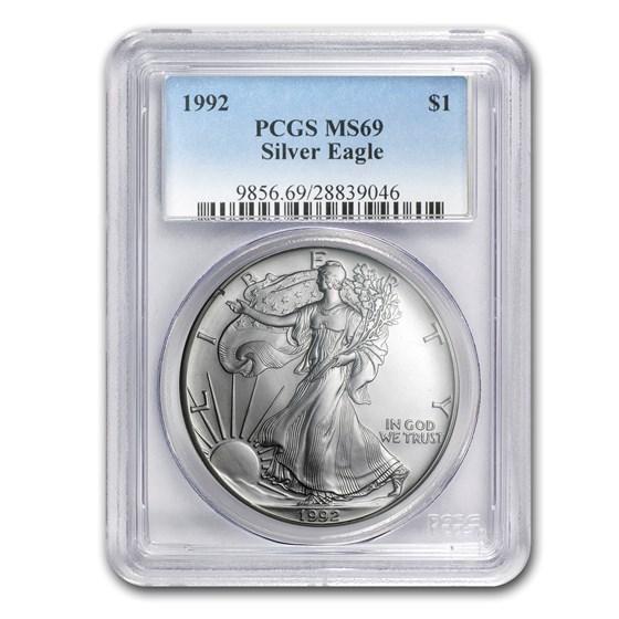 1992 American Silver Eagle MS-69 PCGS