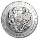 1992 Australia 1 oz Platinum Koala BU