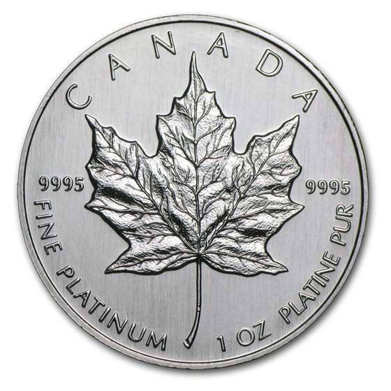 1992 Canada 1 oz Platinum Maple Leaf BU