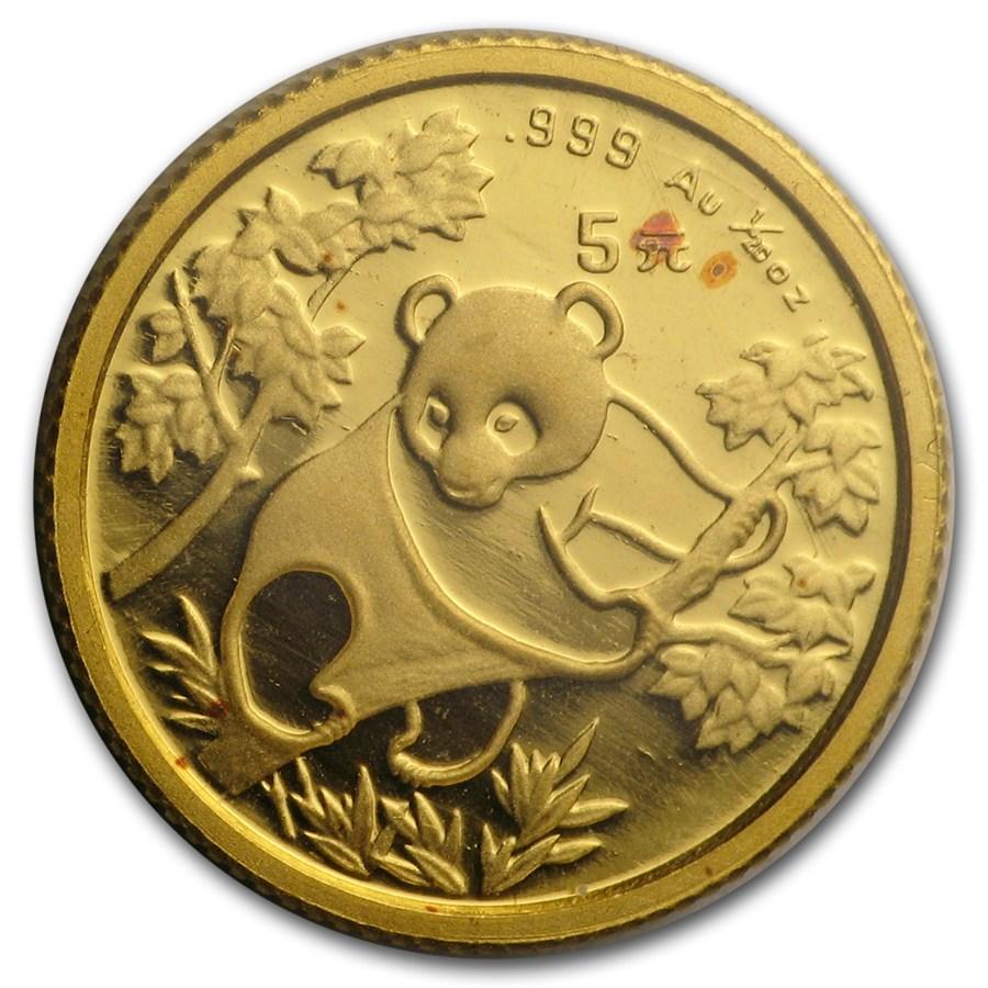 1992 China 1/20 oz Gold Panda BU (Sealed)