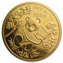1992 China 1 oz Gold Panda Small Date BU (Sealed)