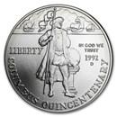 1992-D Columbus Quincentenary $1 Silver Commem BU (w/Box & COA)