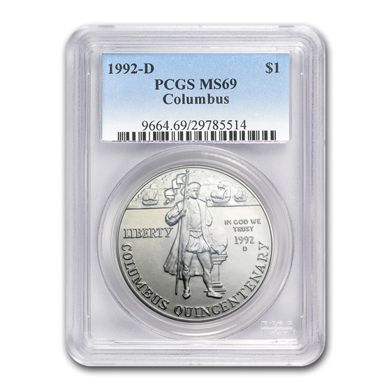 1992-D Columbus Quincentenary $1 Silver Commem MS-69 PCGS