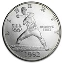 1992-D Olympic Baseball $1 Silver Commem BU (Capsule Only)
