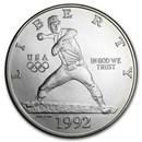 1992-D Olympic Baseball $1 Silver Commem BU (w/Box & COA)