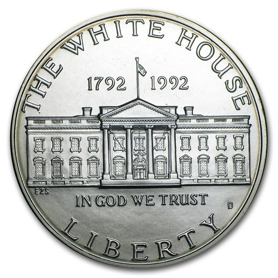 1992-D White House $1 Silver Commem BU (Capsule only)