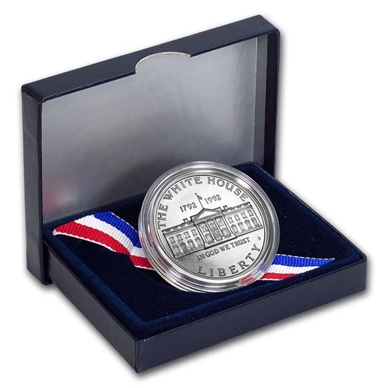 1992-D White House $1 Silver Commem BU (w/Box & COA)