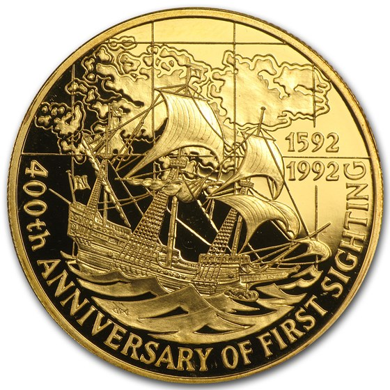 1992 Falkland Islands Gold 100 Pounds 1st Sighting Proof