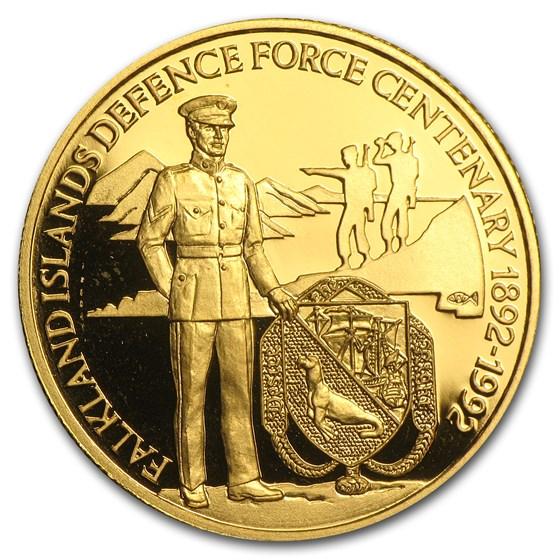 1992 Falkland Islands Gold 50 Pounds Proof