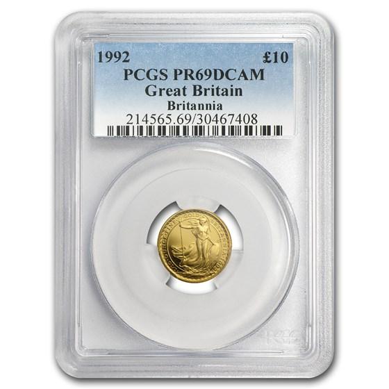 1992 Great Britain 1/10 oz Proof Gold Britannia PR-69 PCGS