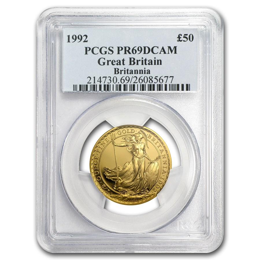 1992 Great Britain 1/2 oz Proof Gold Britannia PR-69 PCGS