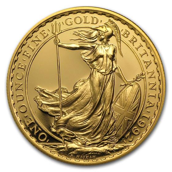 1992 Great Britain 1 oz Gold Britannia Proof