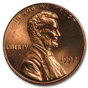 1992 Lincoln Cent BU (Red)