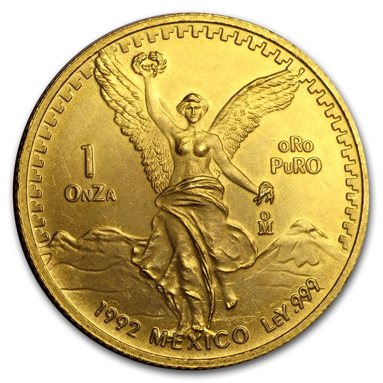 1992 Mexico 1 oz Gold Libertad BU